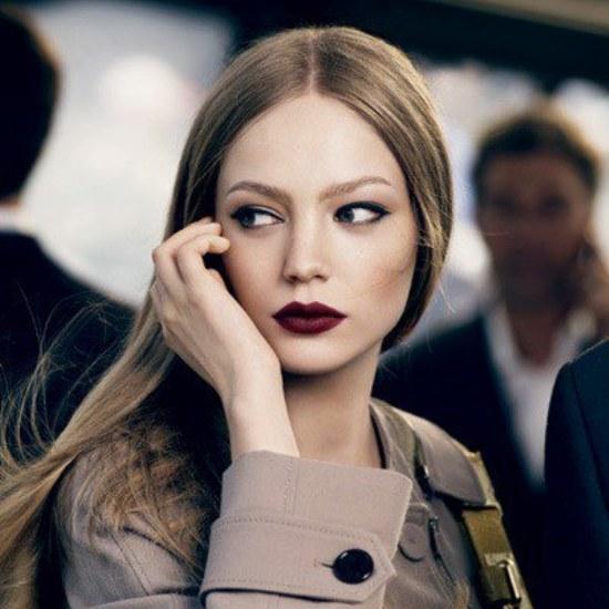 moda labios color oscuros invierno
