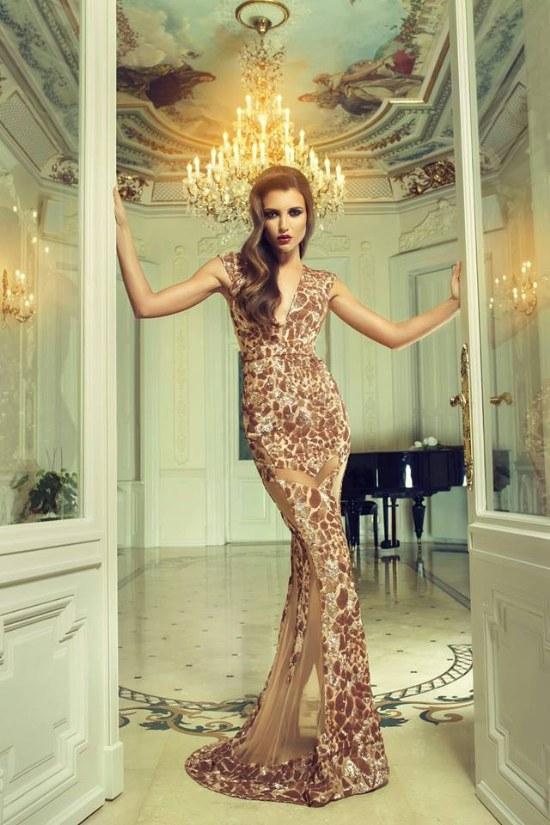 vestidos noche elegantes cristallini