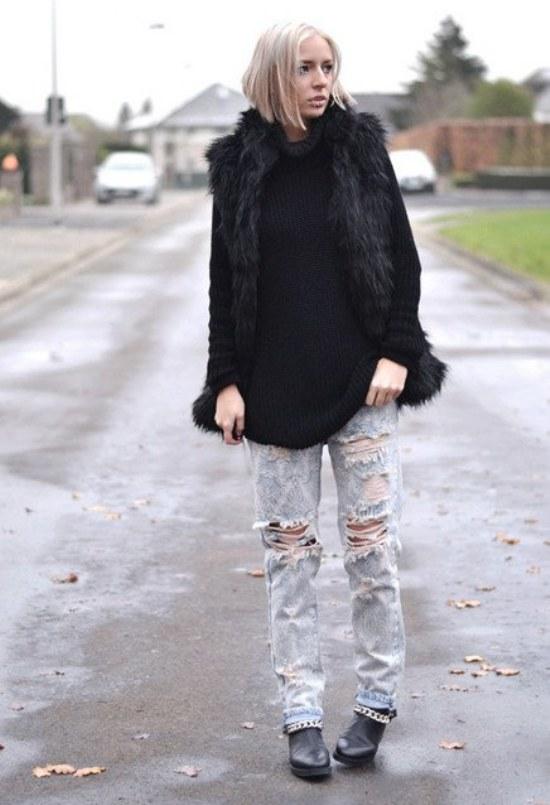 jeans rotos rasgados moda tendencias
