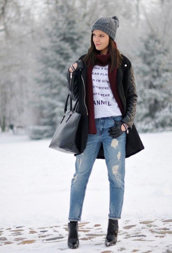 look moda invierno nieve