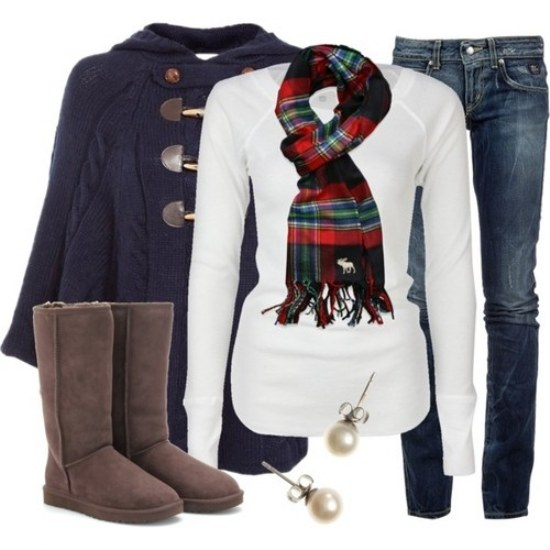 outfits casuales polyvore invierno