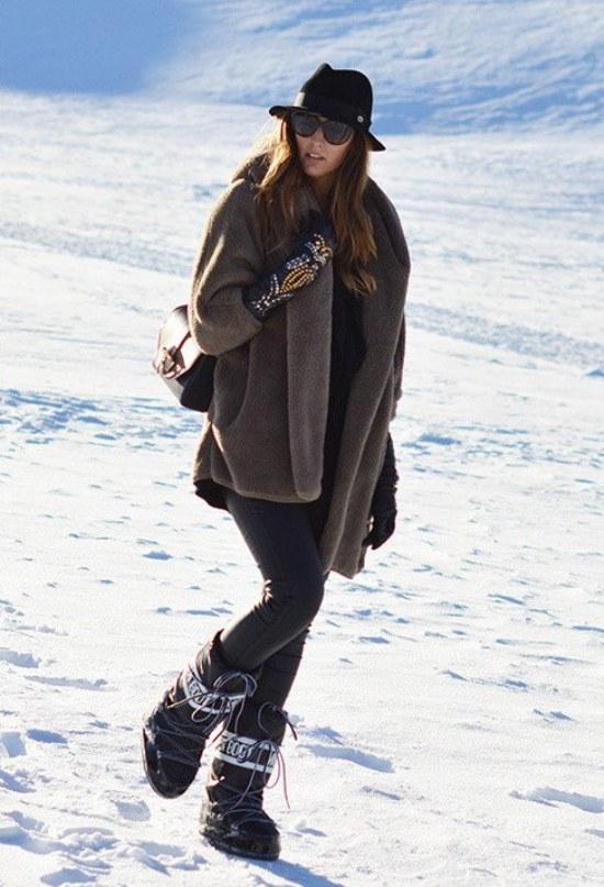 outfits para frio nieve
