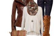 Combinaciones de Outfits para ir a Trabajar en el Invierno 2014 por Polyvore