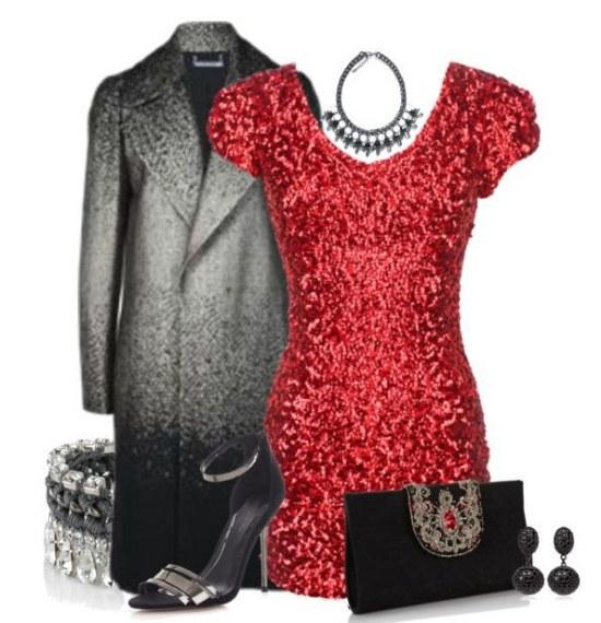 outfits vestidos lentejuelas año nuevo