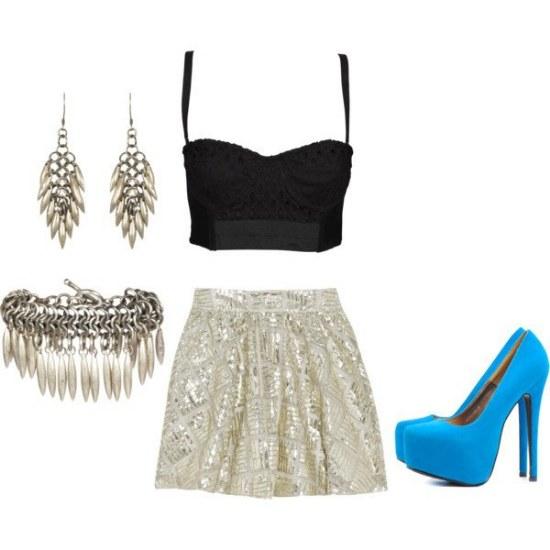 outfits mini faldas vestidos noche