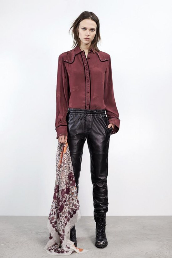 outfits pantalones cuero moda