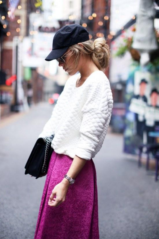 peinados con sombreros moda