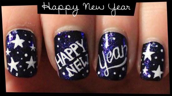 uñas diseños año nuevo