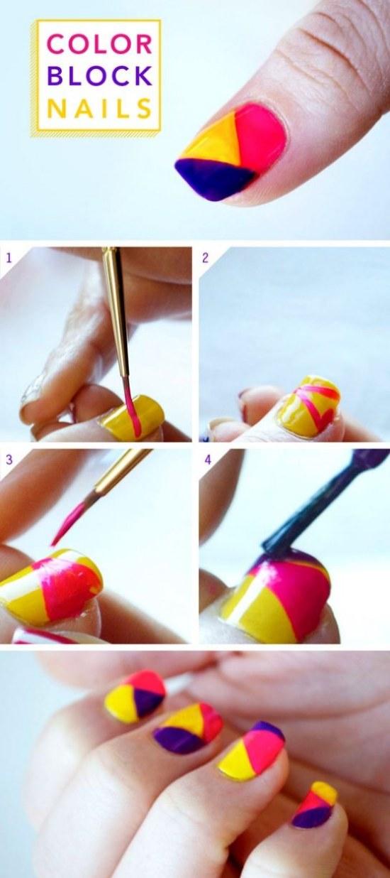 Fantásticos tutoriales en Diseños de Uñas con bloques para tu Manicure