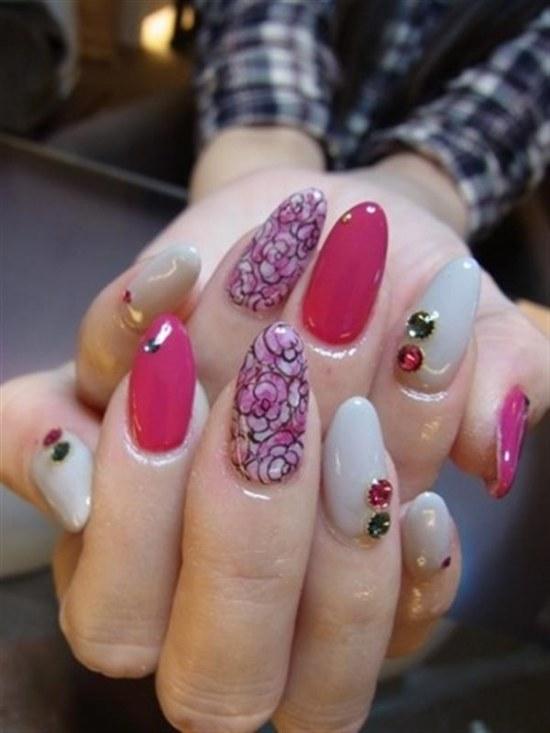 diseños variados de uñas