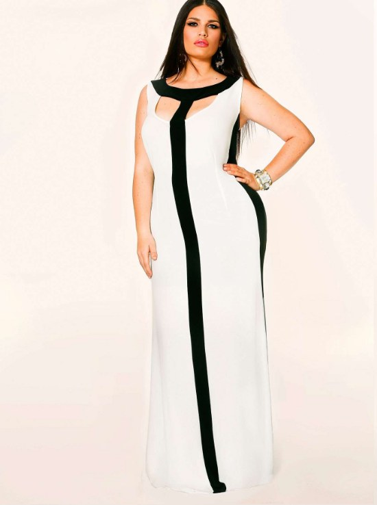Vestidos elegantes de Color Blanco para Gorditas para Fiestas