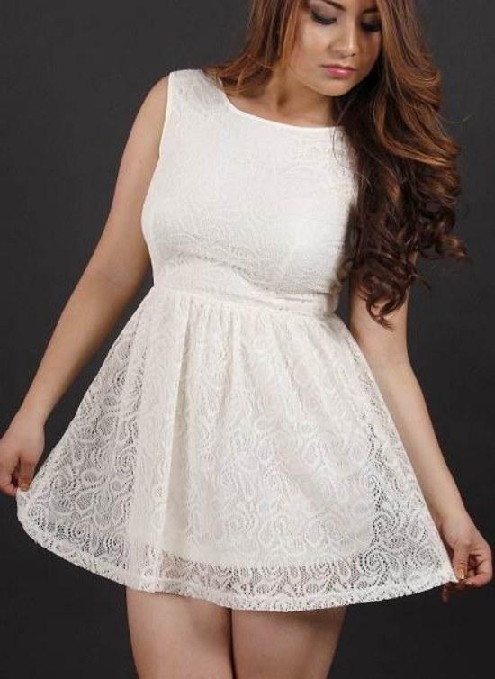 e04b2cfb8a57 Maquillaje de noche vestido blanco – Vestidos hermosos y de moda 2018