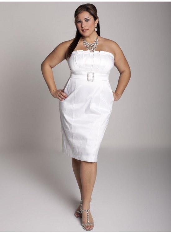 vestidos blancos gorditas moda