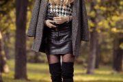 Maneras de vestir Faldas y Vestidos con Botas arriba de las rodillas para el Invierno