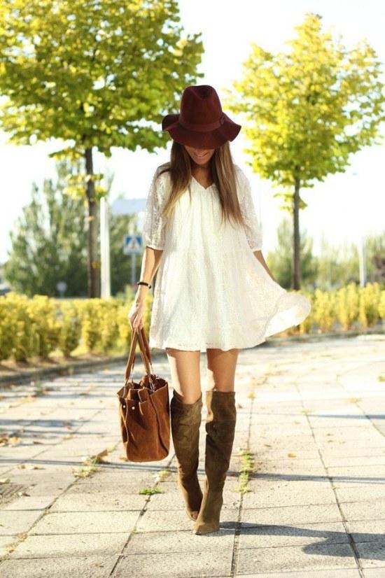 botas rodillas vestidos faldas outfits