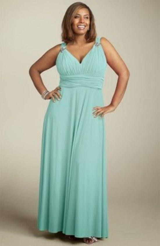 vestidos largos gorditas elegantes