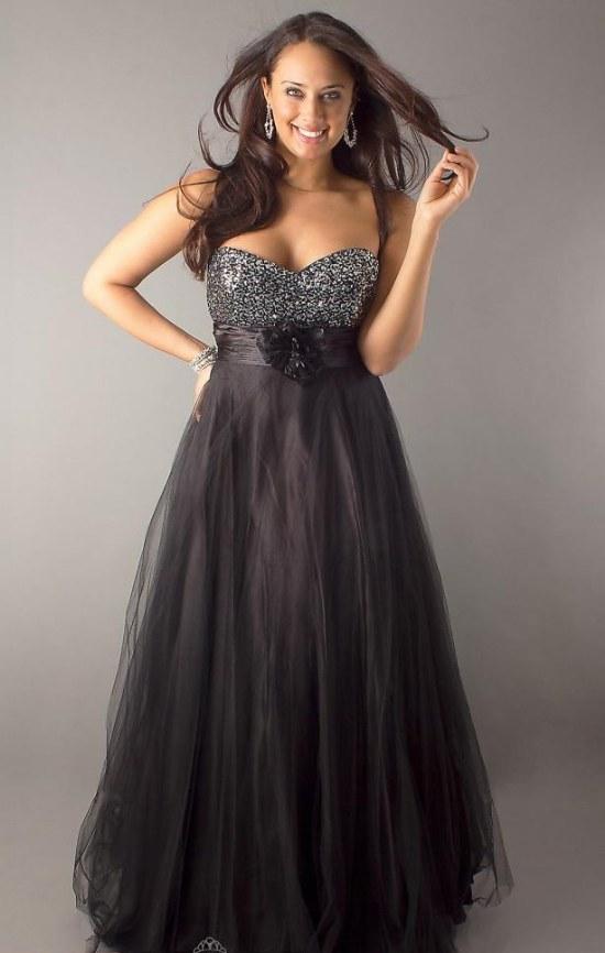 vestidos largos para gorditas elegantes