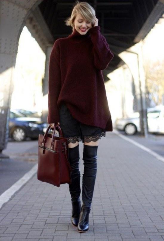 outfits botas a las rodillas