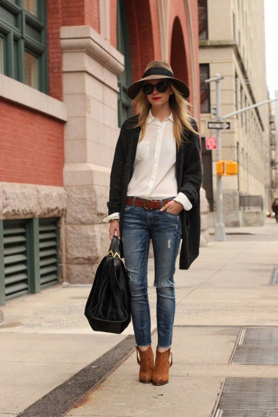 outfits con camisa blanca mujeres