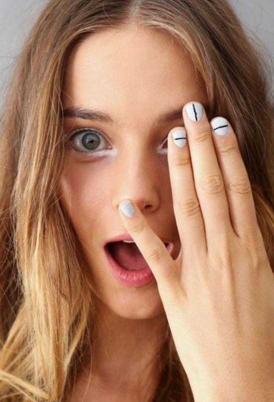 diseño uñas minimalistas simples