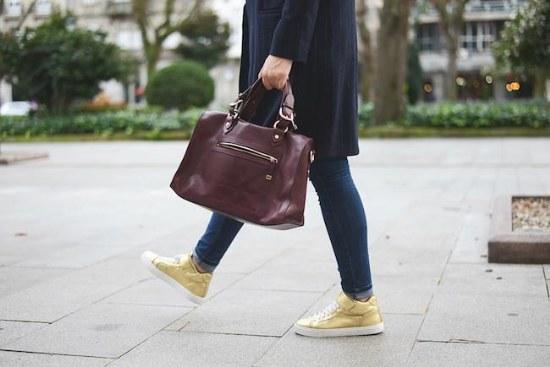 zapatos dorado moda outfits
