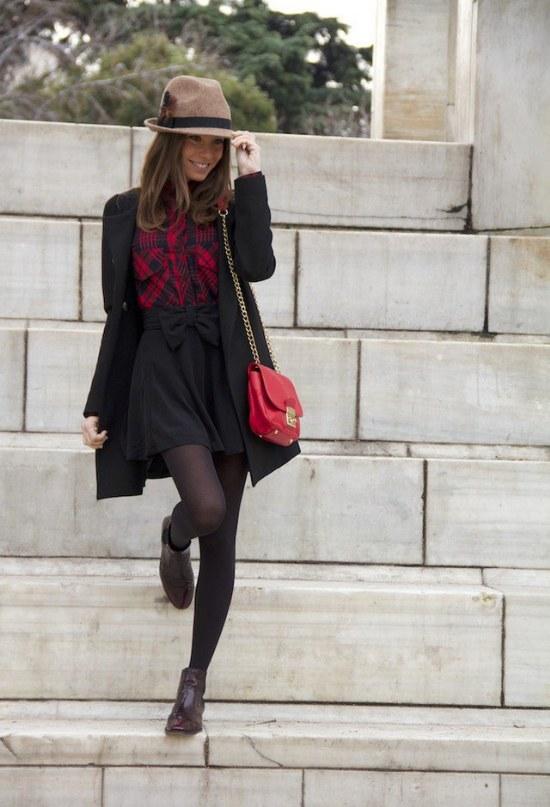 faldas con medias invierno moda
