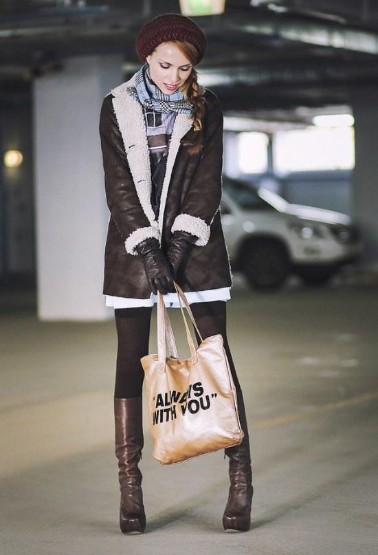 outfits moda invierno gorros lana