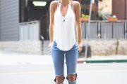 Sigue la tendencia de Outfits con Jeans rotos a la rodilla!