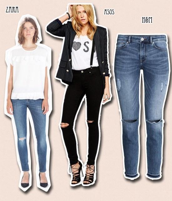 Sigue La Tendencia De Outfits Con Jeans Rotos A La Rodilla Aquimoda Com