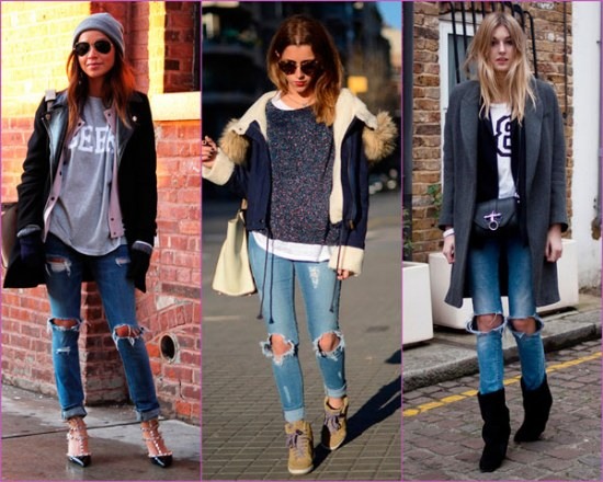 jeans rotos rodillas outfits