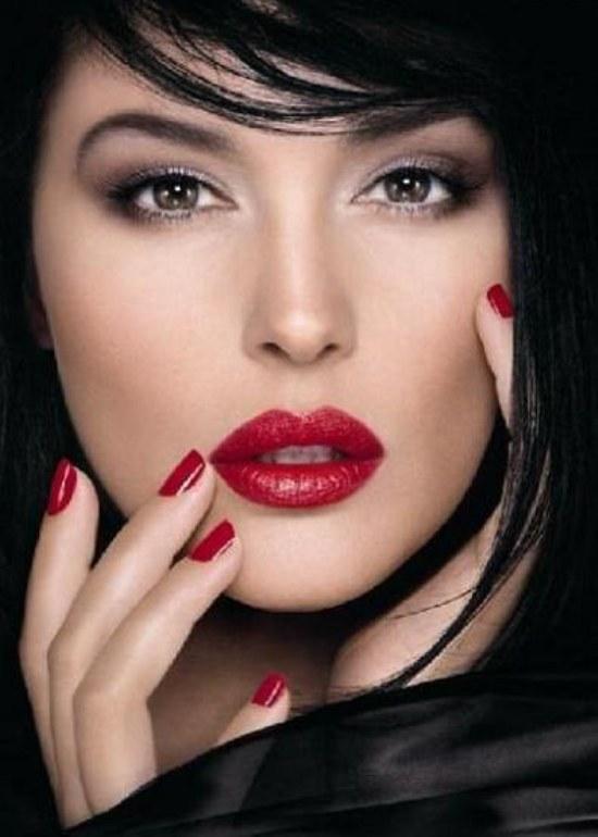 maquillaje moda labios ojos