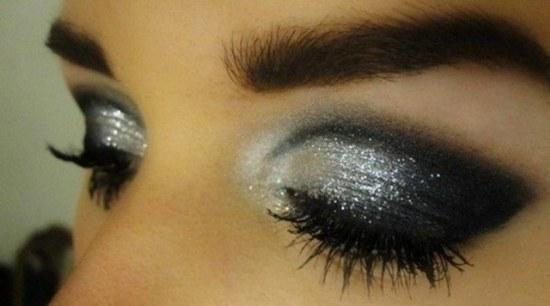 ideas maquillaje sombra escarchada