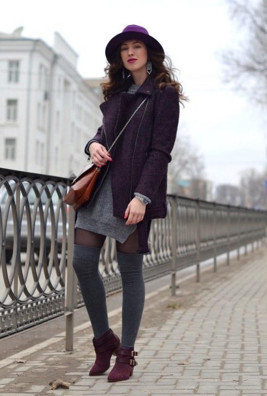 outfits medias altas rodillas