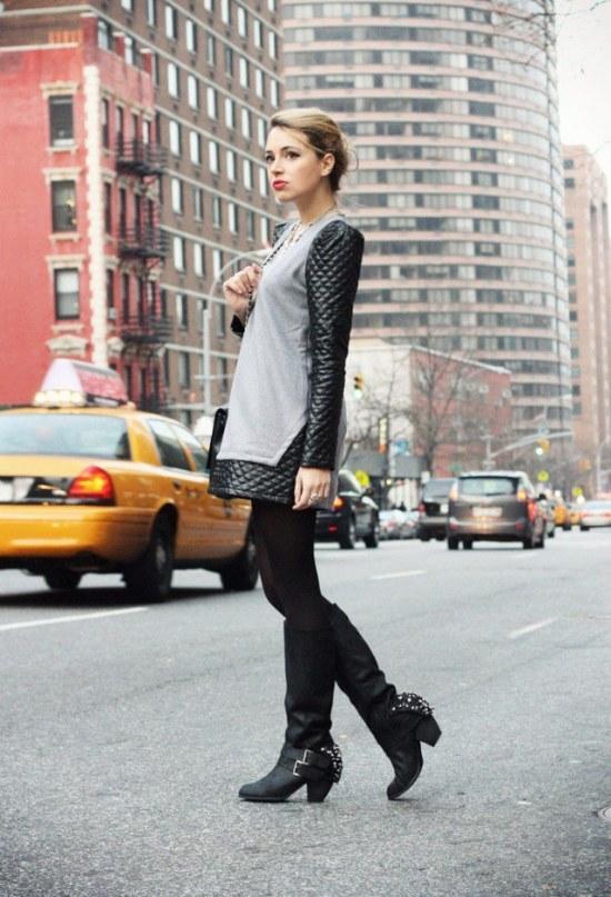 ropa color gris moda invierno
