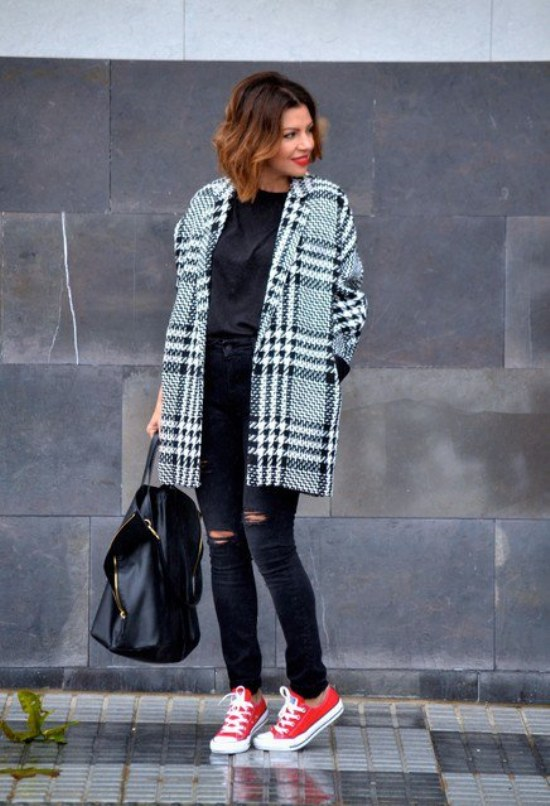 outfits converse invierno casual