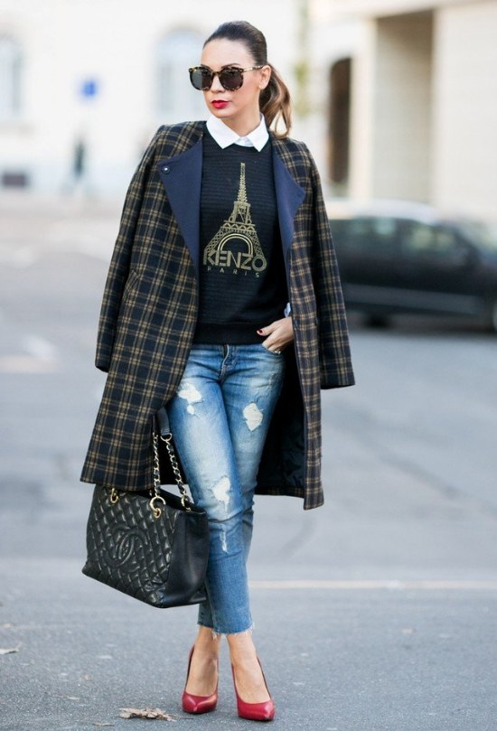 outfits jeans denim invierno