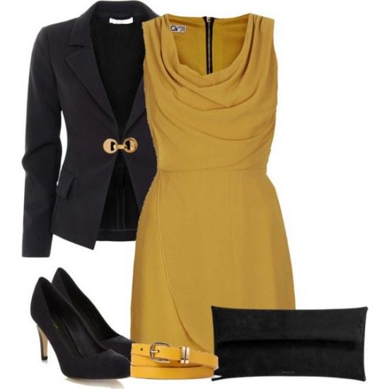 ropa color mostaza moda