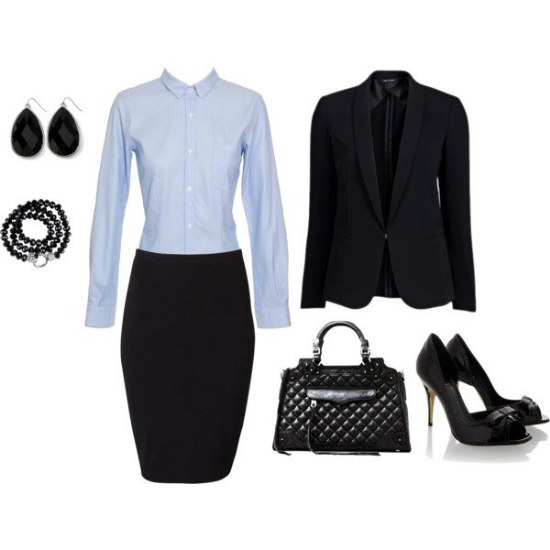 Combinaciones de Outfits Elegantes para ir al Trabajo por Polyvore | AquiModa.com vestidos de ...