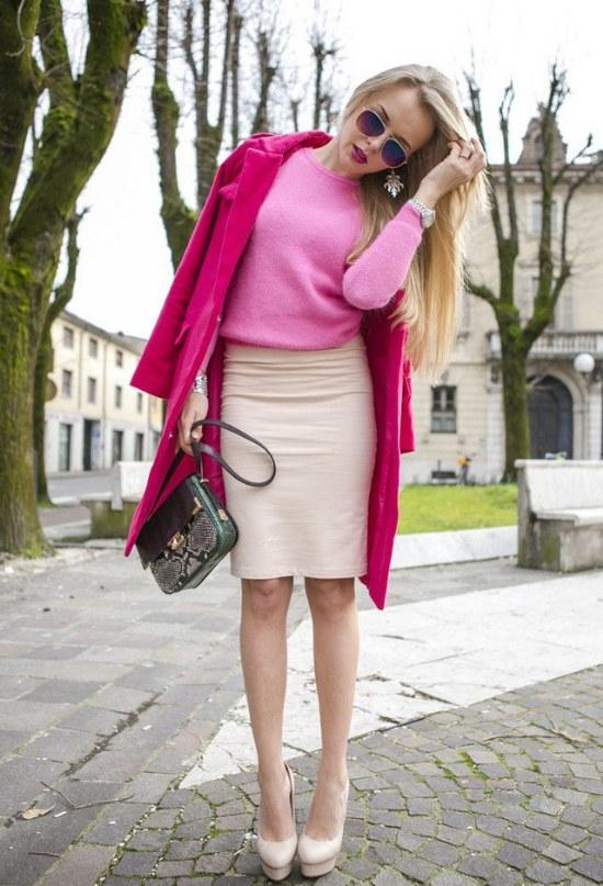 moda ropa color fucsia