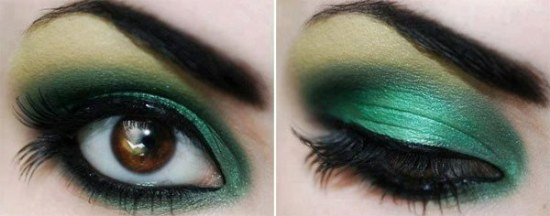 maquillaje sombras coloridas ojos