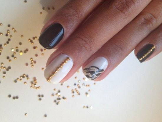 diseños studs uñas manicure
