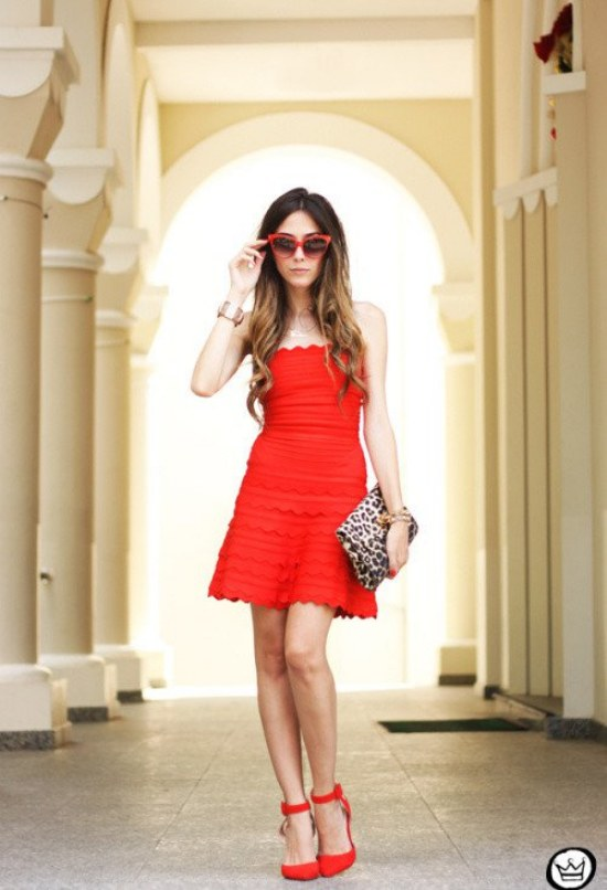 vestidos rojos san valentin
