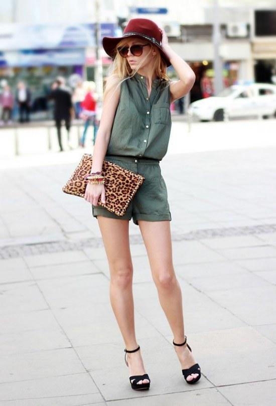 moda ropa color khaki