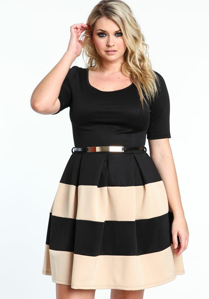 b4659ff6d6 Moda para gorditas 2015  Vestidos de diario