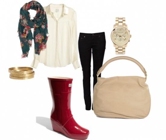 Combinaciones de outfits con botas para lluvias para la primavera - Ropa interior combinaciones ...