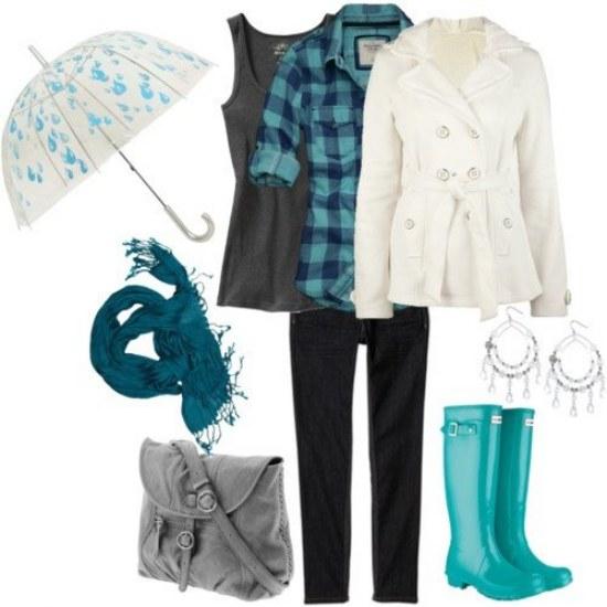 botas lluvia outfits