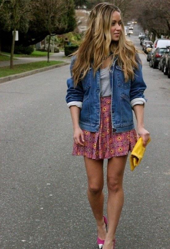 Combinaciones de Outfits con Chaquetas de Jean para Primavera