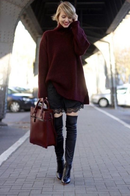 faldas encaje recortado moda