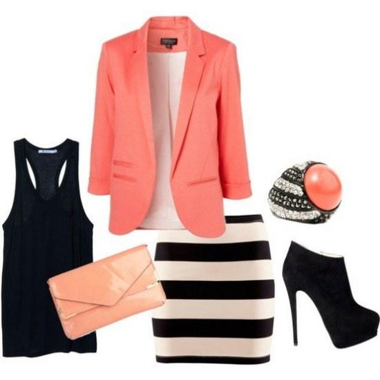 Combinaciones Coquetas de Outfits con Faldas por Polyvore