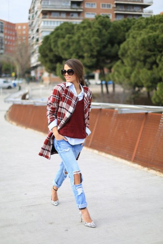 jeans rotos outfits moda